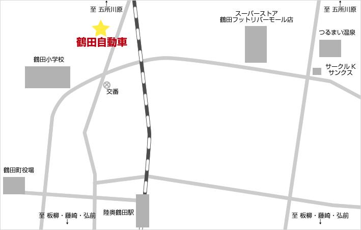 有限会社 鶴田自動車 アクセスマップ